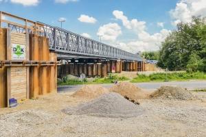 Temporary bridge for Ackermann Bridge Project