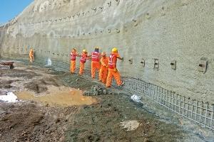 Slope stabilization for the Chilina Bridge