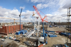 World's biggest transportable Ferris Wheel topped out