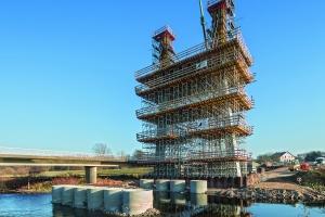 Pylon für Muldebrücke Schlunzig