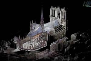 Opération de numérisation 3D d'urgence de Notre-Dame