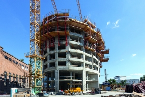 Scaffolding solutions for residential towers