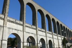 Two-story semi-circular arch bridges