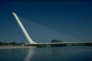 Cable-stayed bridges without backstays