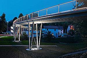 Textile-reinforced concrete bridges