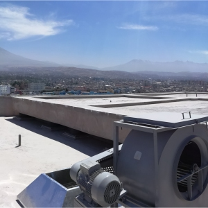 Roof provides mass for seismic protection…