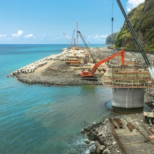 Viaducts for new Ocean Road at La Réunion