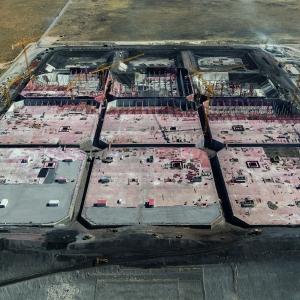 Giant tank farm at Saldanha Bay