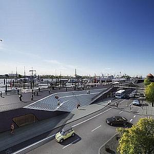 Neubau Hochwasserschutzanlage Niederhafen, Hamburg