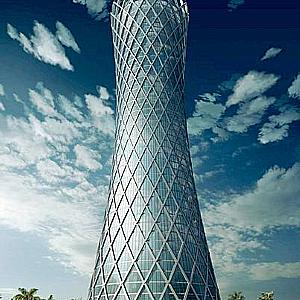 Tornado Tower shapes the skyline of Doha