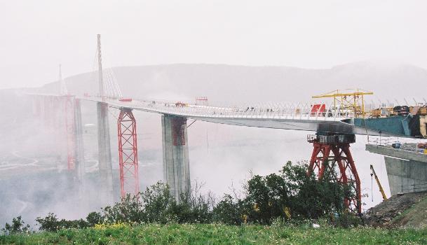 Viaduc de MillauVue depuis l'appuis nord