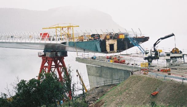 Viaduc de MillauVue du tablier depuis l'appuis nord