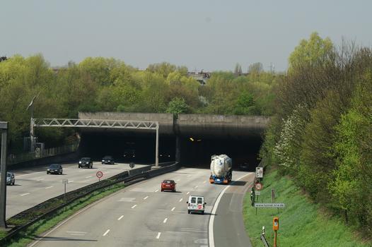 Autobahn A 46, Düsseldorf-Wersten. Wersten Tunnel
