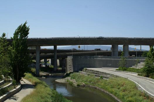 Guadalupebrücke I-280, San Jose, Kalifornien