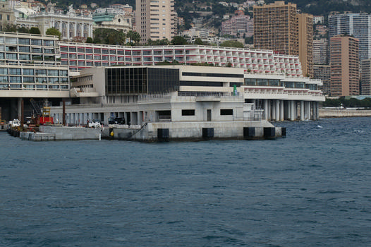 Gegenpier der Erweiterung des Hafens La Condamine in Monaco