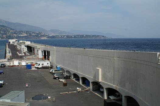 Swimming pier of the La Condamine port extension at Monaco