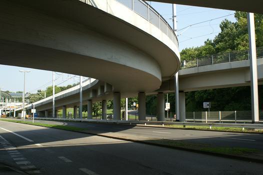 Light rail bridge on Ardeystrasse, Dortmund