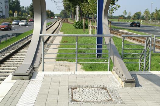 Tramway and subway station at the main cemetery, Dortmund