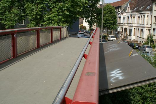 Footbridge at the end of Alexanderstrasse at Dortmund