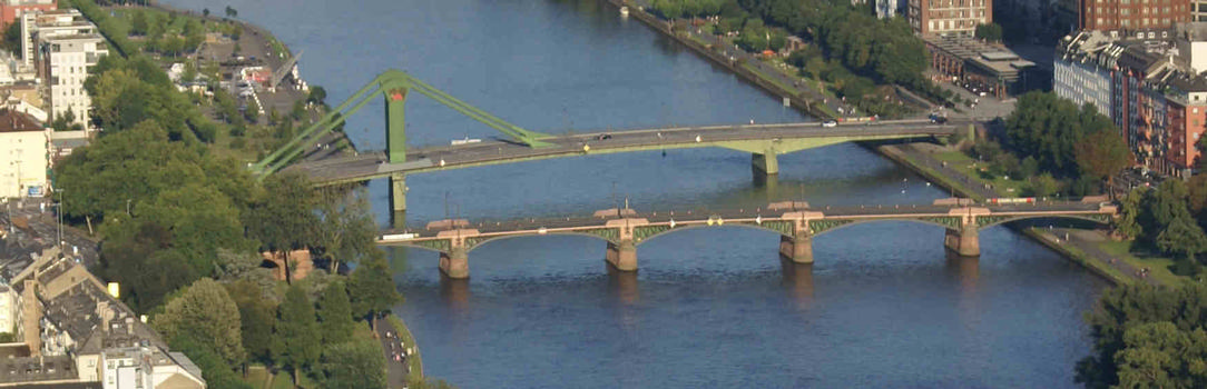 Flösserbrücke & Ignatz-Bubis-Brücke, Frankfurt-am-Main