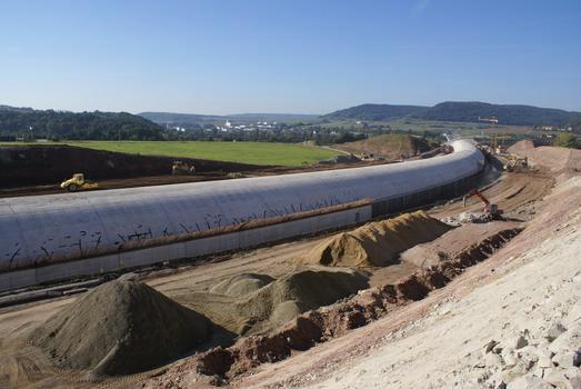 Jena - A 4 - Einhausung Tunnel Lobedeburg