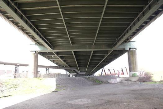 Autobahn A 42 & Canal du Rhin à Herne – Pont de l'A42 sur le Canal Rhin-Herne