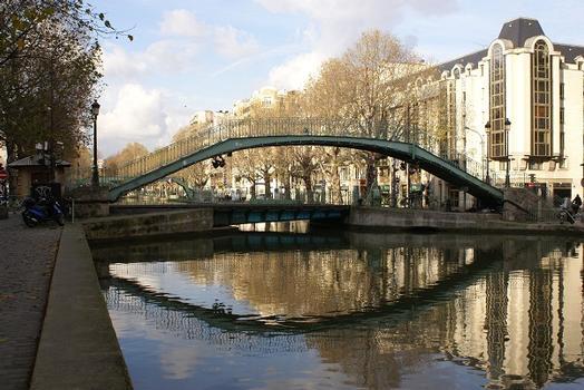 Canal Saint-Martin – Passerelle Alibert & Pont tournant de la rue Dieu