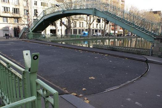 Canal Saint-Martin – Pont tournant de la rue Dieu & Passerelle Alibert