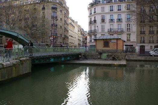 Canal Saint-Martin – Pont tournant de la rue Dieu
