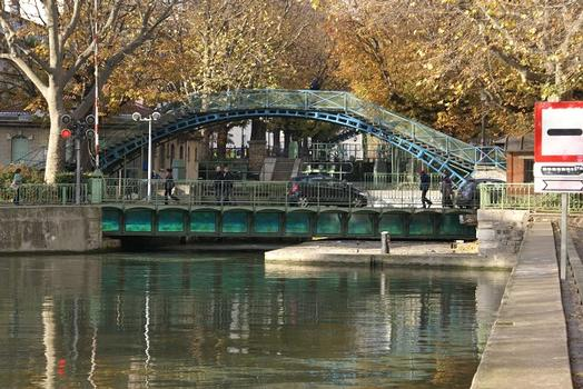 Saint-Martin-Kanal – Drehbrücke Grange-aux-Belles & Passerelle de la Grange-aux-Belles