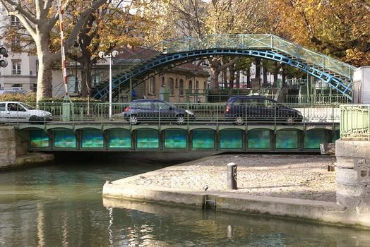 Canal Saint-Martin – Pont tournant de la Grange-aux-Belles & Passerelle de la Grange-aux-Belles
