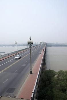 Nanjing - road and rail bridge across the Yangtze