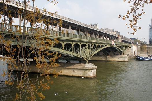 Linie 6 der Pariser Métro – Bir-Hakeim-Viadukt