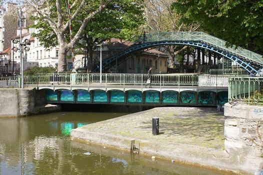 Saint-Martin-Kanal – Drehbrücke Grange-aux-Belles