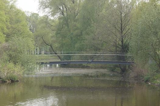 Passerelle haubanée sur le canal de Nordhorn-Almelo