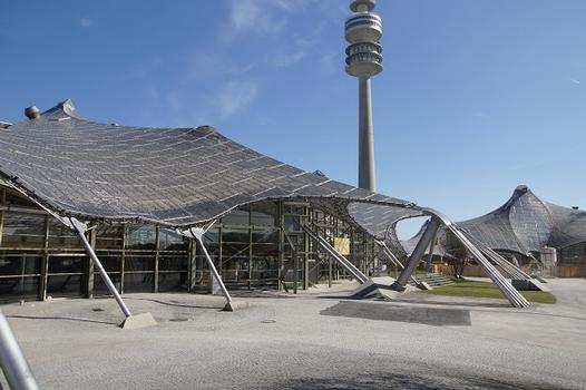 Olympic Summer Games 1972 – Olympiapark – Roof over the buildings of the Olympic Park – Olympiahalle