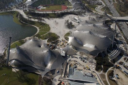 Olympiapark – Roof over the buildings of the Olympic Park