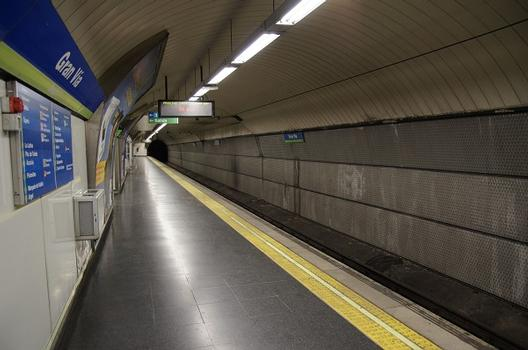Madrid Metro – Gran Vía Metro Station