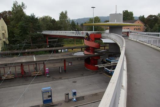 Passerelle sur le Bucheggplatz