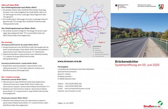 """Pilotprojekt """"Brückenwächter"""": Informationsflyer"""