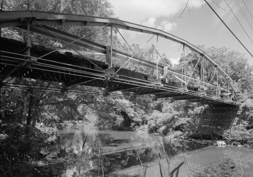 Shaw Bridge South portal, looking north-northeast.