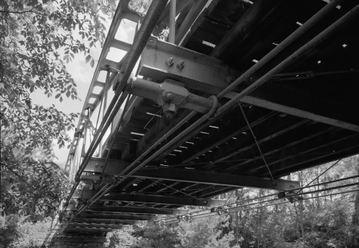 Shaw Bridge Oblique view of single span, looking northwest.
