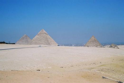 Pyramids of Cheops, Chefren and Mycerinus
