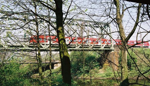 Eisenbahnbrücke über die Ruhr, Duisburg