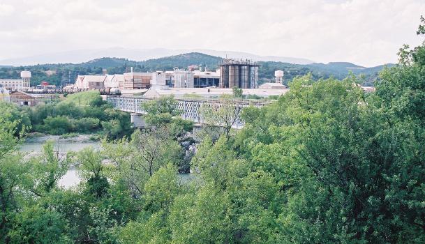 Pont ferroviaire à Saint-Auban (04)