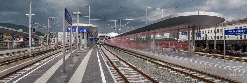 Graz Hauptbahnhof - Bahnsteigüberdachung