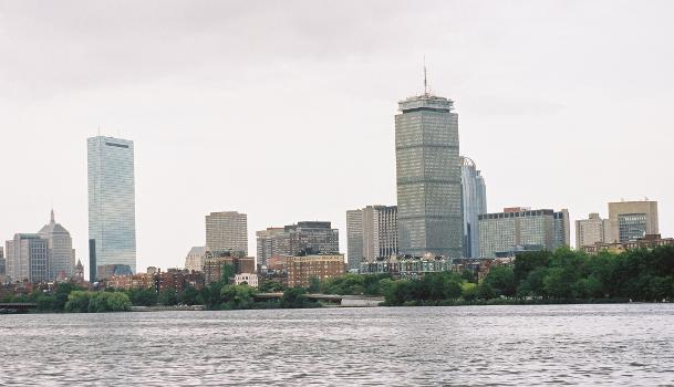 John Hancock Tower & Prudential Tower, Boston, Massachusetts.