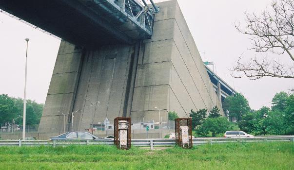 Verrazano Narrows Bridge, Bay Ridge side, New York.
