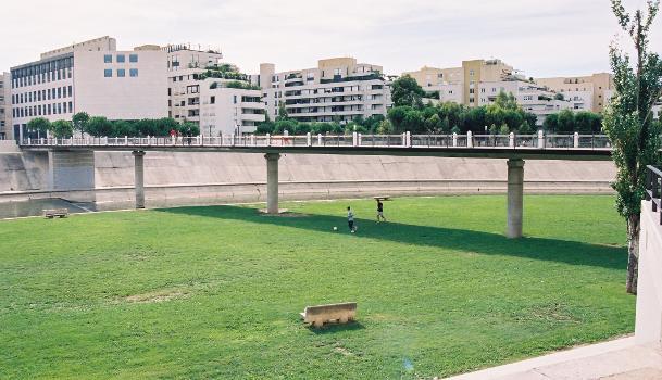 Passerelle des Barons de Caravetes, Montpellier