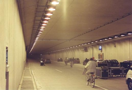 Rhine Bend Tunnel during inauguration festivities